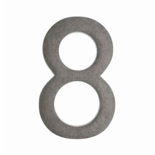 Architectural Mailboxes 3585APA-8 Floating House Number 8, Antique Pewter - 5 in. Perspective: front