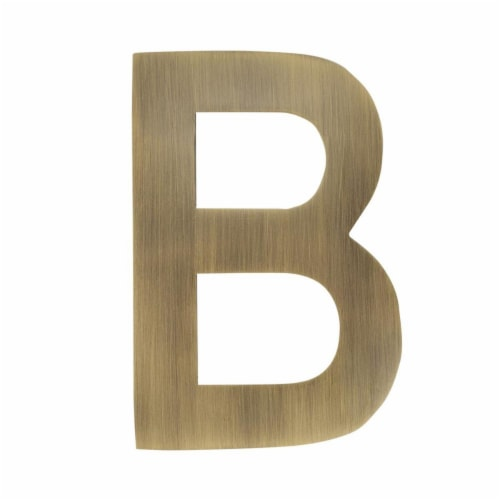 Architectural Mailboxes 3582AB-B 4 in. Brass Floating House Letter B, Antique Brass Perspective: front