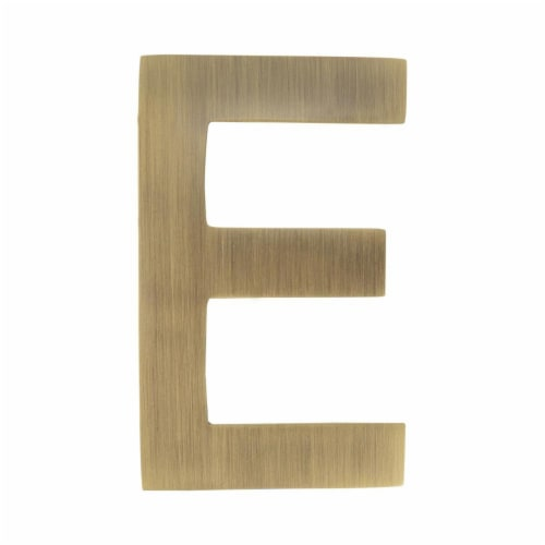 Architectural Mailboxes 3582AB-E 4 in. Brass Floating House Letter E, Antique Brass Perspective: front