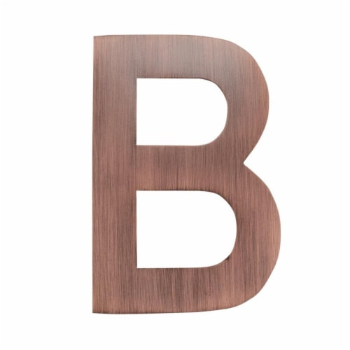 Architectural Mailboxes 3582AC-B 4 in. Brass Floating House Letter B, Antique Copper Perspective: front
