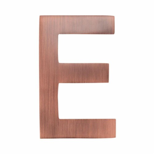 Architectural Mailboxes 3582AC-E 4 in. Brass Floating House Letter E, Antique Copper Perspective: front