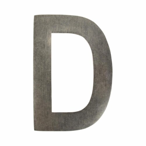 Architectural Mailboxes 3582APA-D 4 in. Brass Floating House Letter D, Antique Pewter Perspective: front