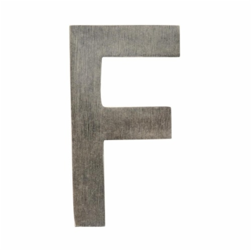 Architectural Mailboxes 3582APA-F 4 in. Brass Floating House Letter F, Antique Pewter Perspective: front
