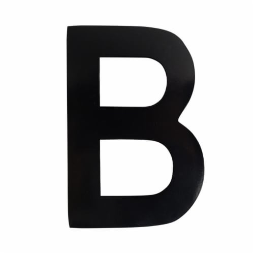 Architectural Mailboxes 3582B-B 4 in. Brass Floating House Letter B, Black Perspective: front