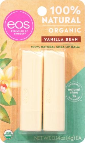 EOS Vanilla Bean Organic Lip Balm Sticks Perspective: front