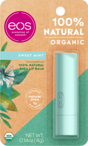 EOS Organic Sweet Mint Stick Lip Balm Perspective: front