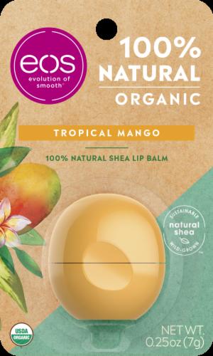 EOS Tropical Mango Natural Shea Lip Balm Perspective: front