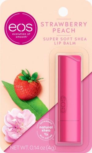 EOS Flavor Strawberry Peach Stick Lip Balm Perspective: front