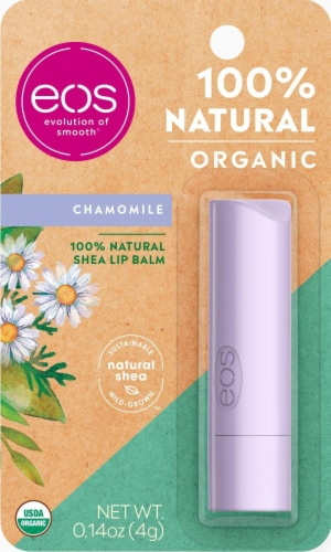 EOS 100% Natural Organic Chamomile Lip Balm Perspective: front