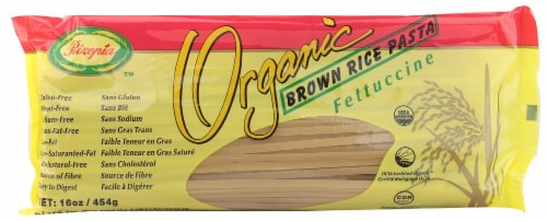 Rizopia Organic Brown Rice Gluten Free Fettuccine Perspective: front