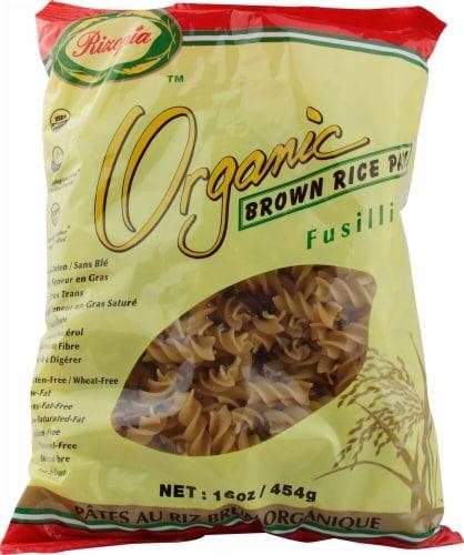 Rizopia  Organic Brown Rice Pasta Fusilli Perspective: front