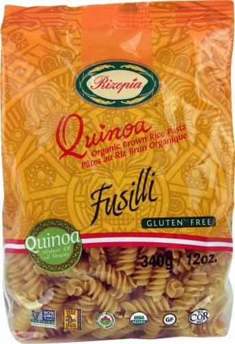Rizopia  Quinoa Organic Brown Rice Fusilli Pasta Perspective: front