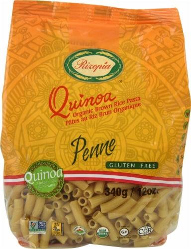 Rizopia  Quinoa Organic Brown Rice Penne Pasta Perspective: front