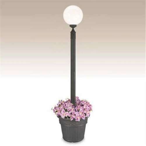 Patio Living 00381 Single Globe Planter - White Perspective: front