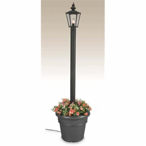 Patio Living 00411 Single Lantern Planter- White Perspective: front