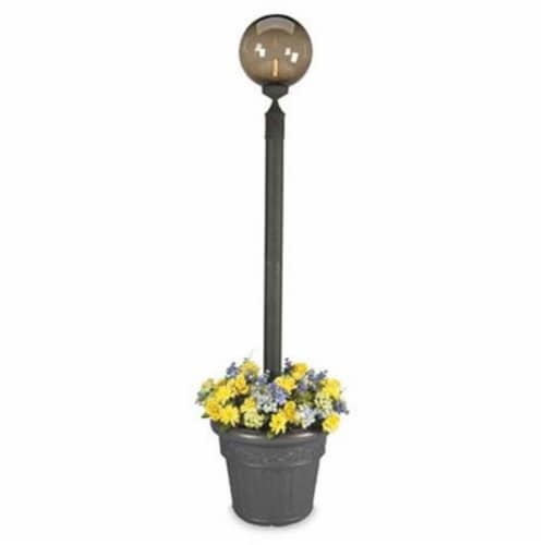 Patio Living 00480 Single Globe Planter - Black Perspective: front