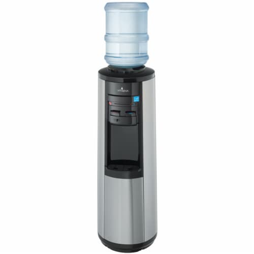 Vitapur Stainless Steel Top Load Floor Standing Water Dispenser Perspective: front