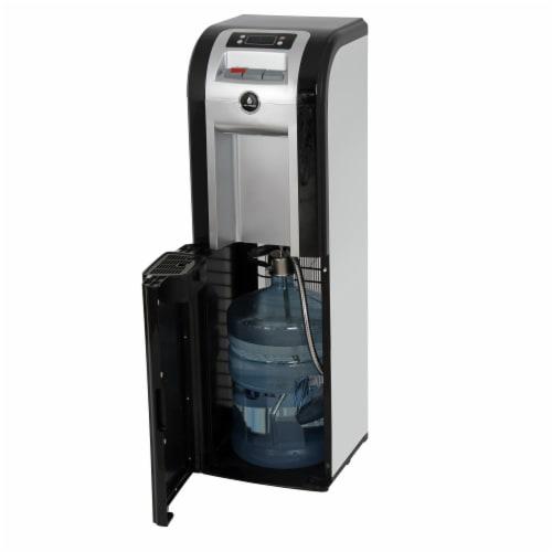 Vitapur Bottom Load Water Dispenser - Black/Platinum Perspective: front