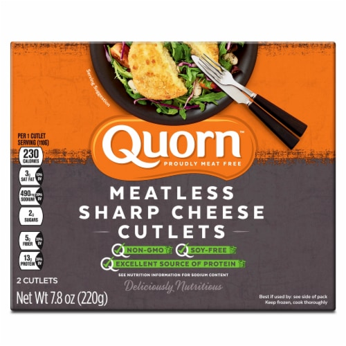 Quorn Meatless Sharp Cheese Cutlet Perspective: front