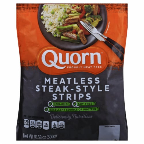 Quorn Meatless Steak-Style Strips Perspective: front