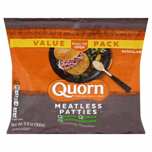 Quorn Meatless Patties Value Pack Perspective: front