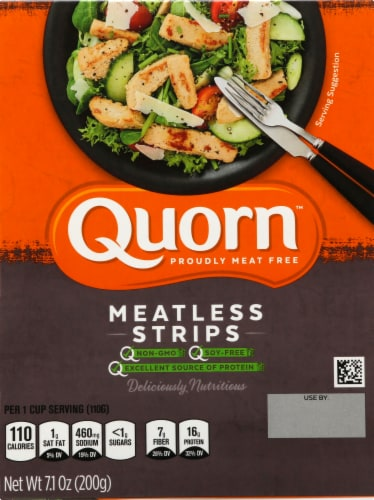 Quorn Meatless Strips Perspective: front