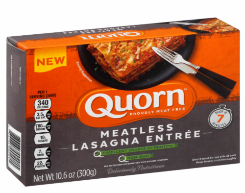 Quorn Meatless Lasagna Entree Perspective: front