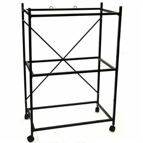 3 Shelf Stand for 2464 and 2474, Black Perspective: front
