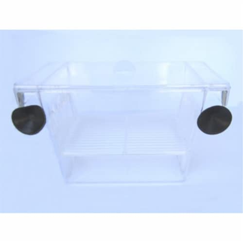 "H001 Brand New Fish hatchery Tank Size 5L""x2.75W""x2.75H"" Perspective: front"