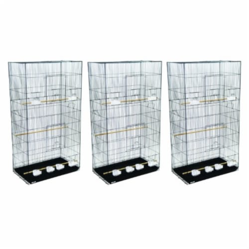 Lot of 3 XLarge Breeding Cages - Black Perspective: front
