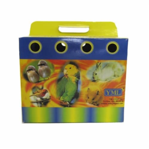 Lot of 100 Cardboard Carrier for Small Animals or Birds, Medium Perspective: front