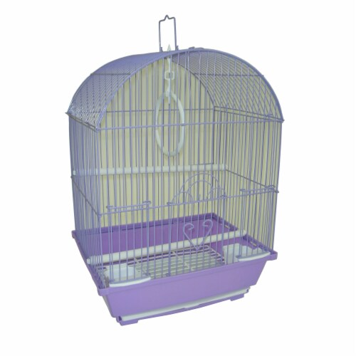 """YML A1314MBLK House Top Style Small Parakeet Cage, 13.3"""" x 10.8"""" x 17.8"""" Perspective: front"""