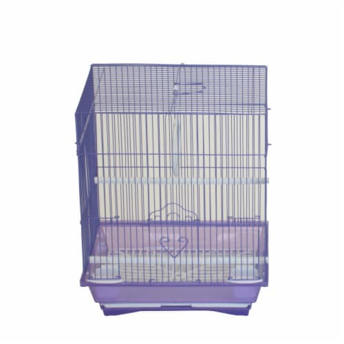 """YML A1124MPUR Flat Top Small Parakeet Cage, 11"""" x 8.5"""" x 14"""" Perspective: front"""