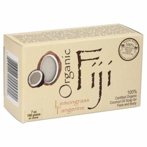 Organic Fiji Lemongrass Tangerine Soap Perspective: front