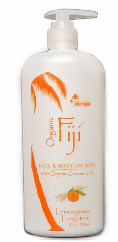 Organic Fiji Lemongrass Tangerine Face & Body Lotion Perspective: front