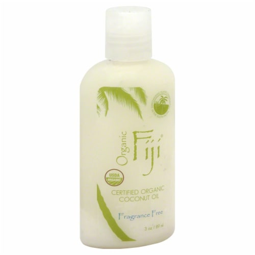 Organic Fiji Fragrance Free Coconut Oil Perspective: front