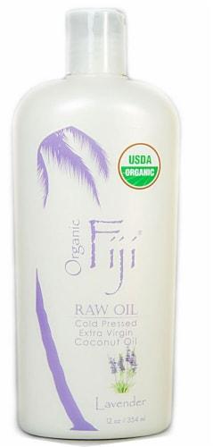Organic Fiji  Virgin Coconut Oil Lavender Perspective: front