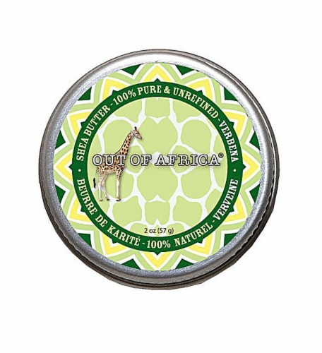 Out Of Africa  Verbena Shea Butter Tin (boxed) Perspective: front