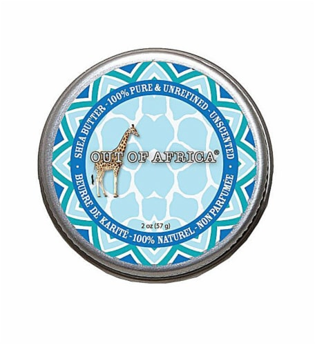 Out Of Africa  Unscented Shea Butter Tin (boxed) Perspective: front