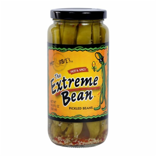 The Extreme Bean Hot & Spicy Pickled Beans Perspective: front