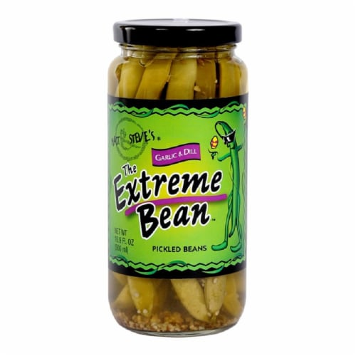 The Extreme Bean Garlic & Dill Pickled Beans Perspective: front