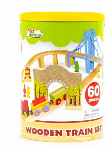 First Learning Wooden Train Set Perspective: front