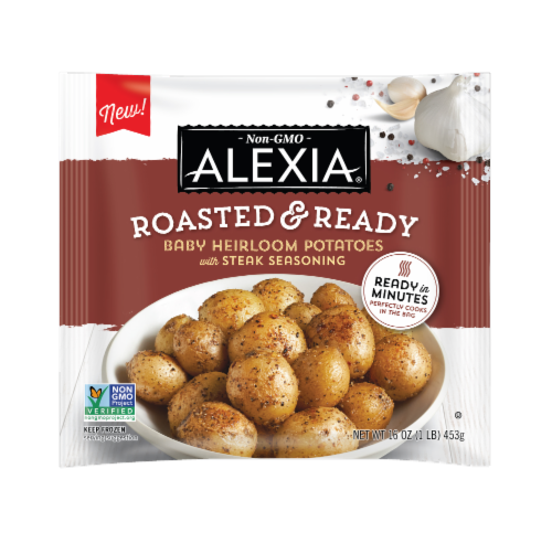 Alexia® Roasted & Ready Baby Heirloom Potatoes with Steak Seasoning Perspective: front