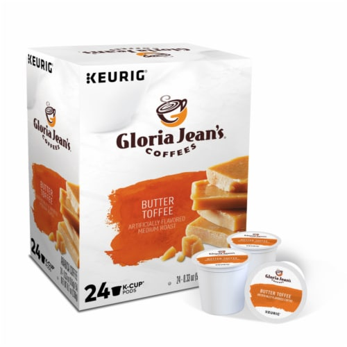 Keurig Gloria Jeans Butter Toffee Coffee K-Cups 24 pk - Case Of: 1; Perspective: front