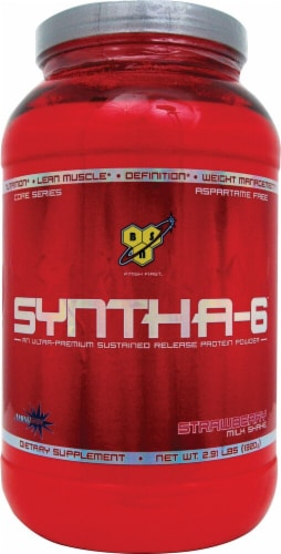 BSN  Syntha-6™ Protein Powder   Strawberry Milkshake Perspective: front