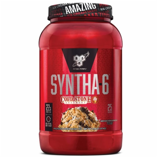 BSN Syntha-6 Cold Stone Creamery Germanchokolatekake Powder Drink Mix Perspective: front