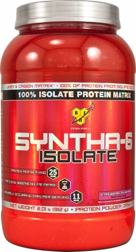 BSN  SYNTHA-6™ Isolate   Strawberry Milkshake Perspective: front