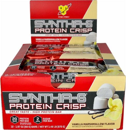 BSN  Syntha-6® Protein Crisp Bar   Vanilla Marshmallow Perspective: front