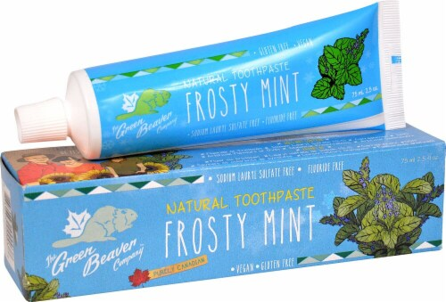 Green Beaver  Natural Toothpaste   Frosty Mint Perspective: front