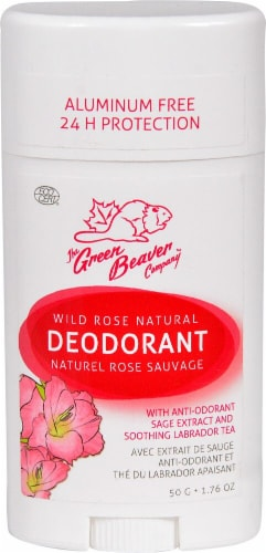 Green Beaver  Natural Deodorant Stick Wild Rose Perspective: front